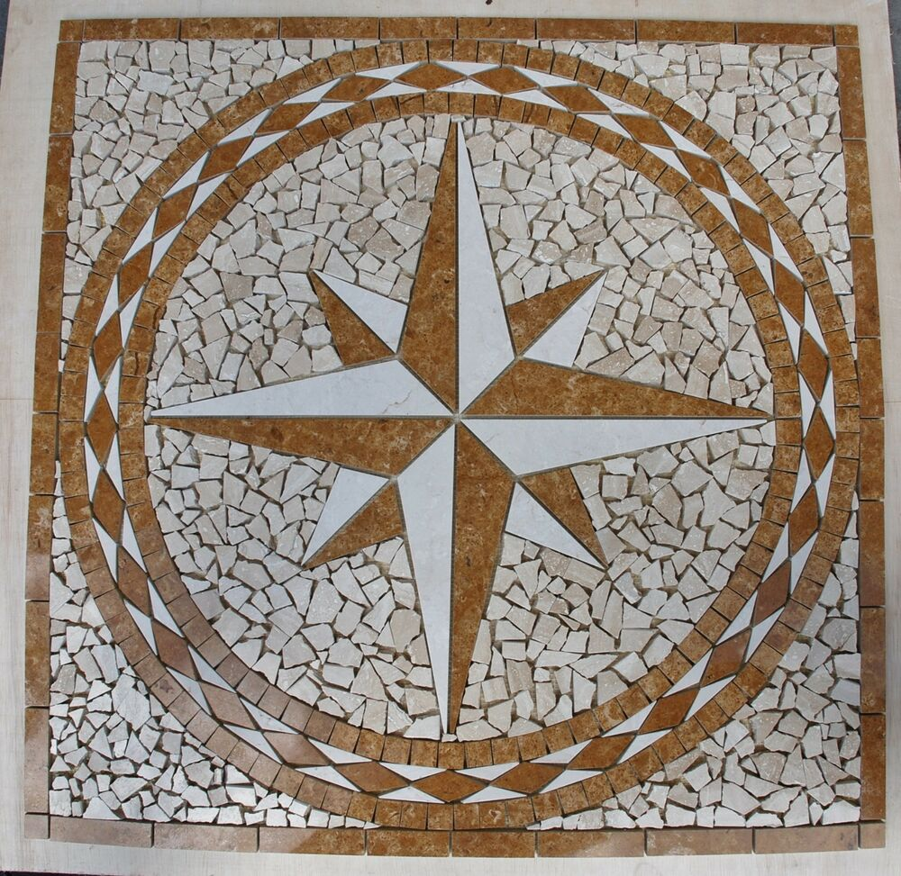 30 marble tile mosaic medallion design stone flooring or Mosaic tile wall designs