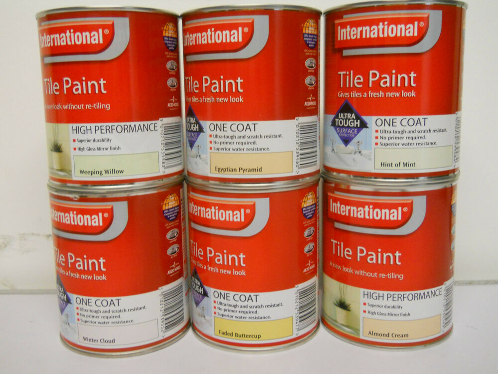 International Waterproof Tile Paint 750ml Various Colours Best Price Quality Ebay