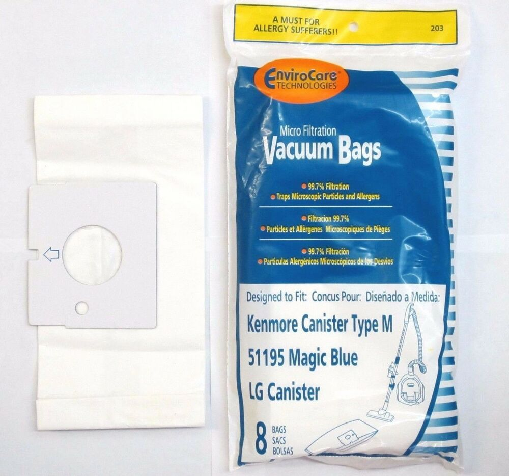 Kenmore 51195 Magic Blue Microfiltration Vacuum Bags Lg