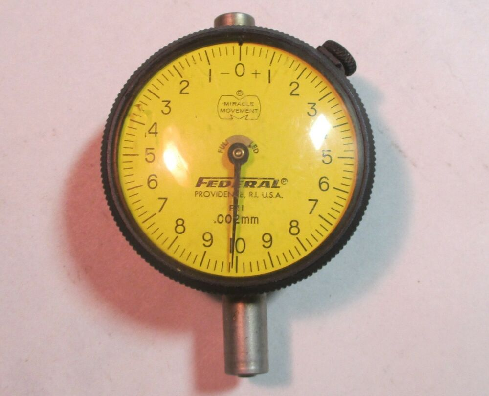 Federal Indicators Gages : Federal p quot face dial indicator gauge mm increment