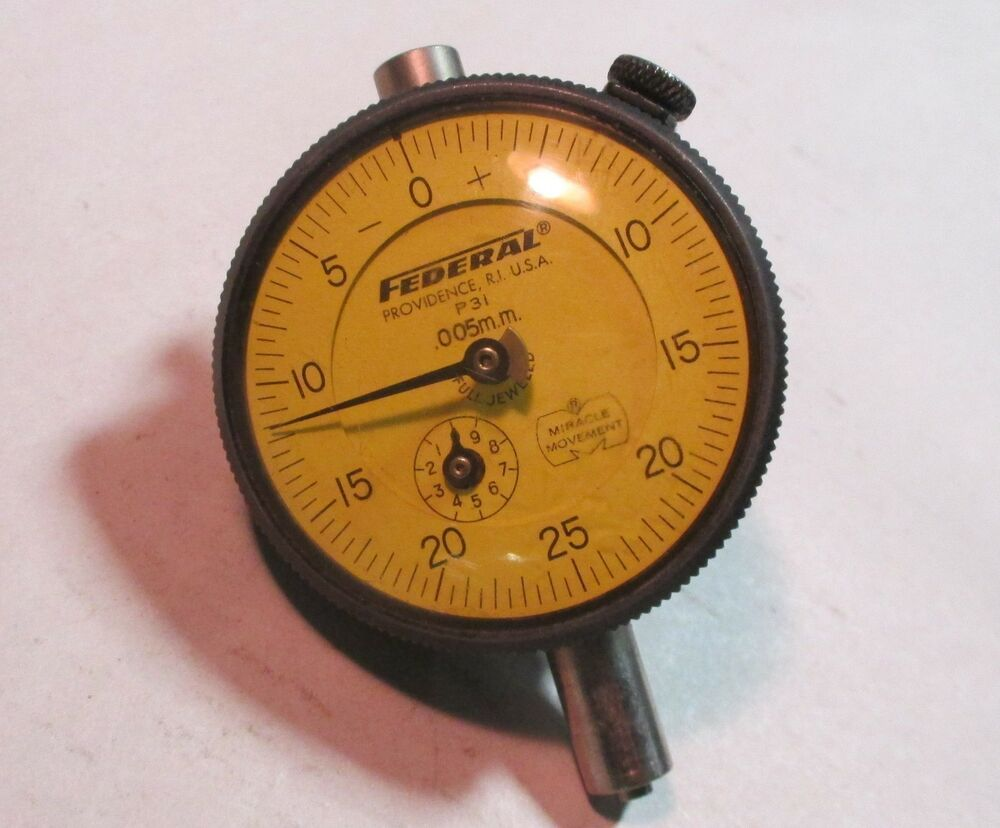 Federal Indicators Gages : Federal p mm dial indicator gauge w revolution