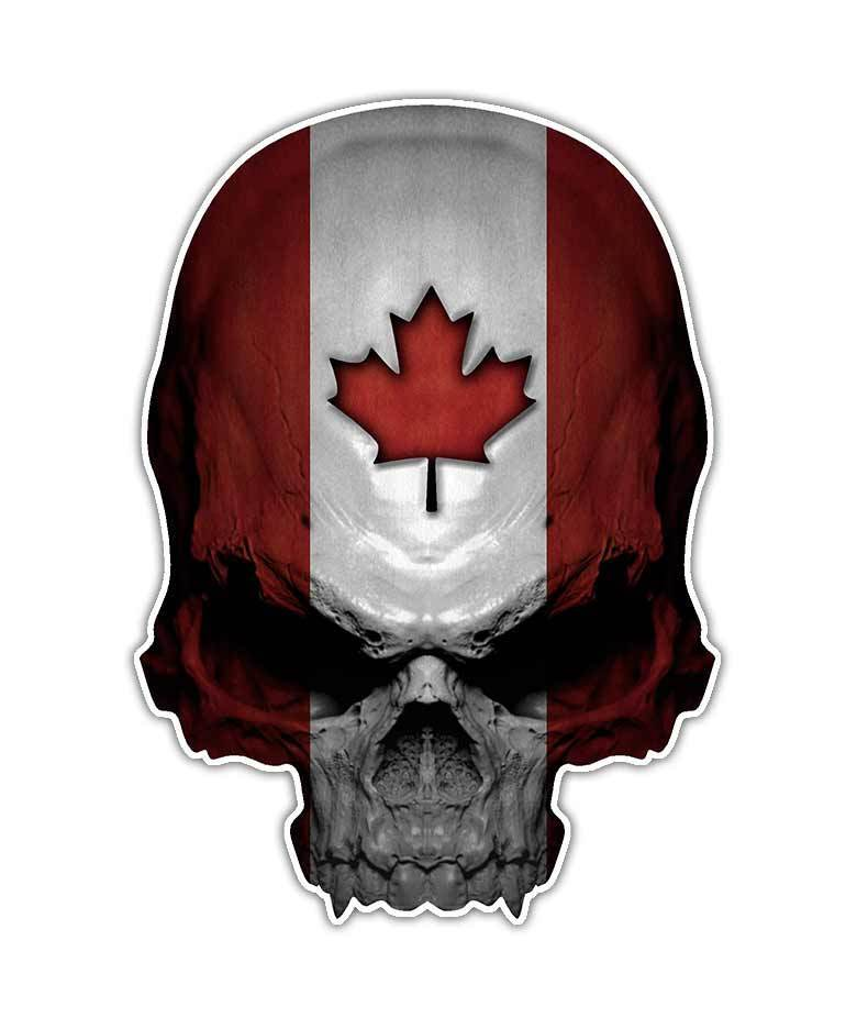 Maple Leaf Motors >> Canadian Skull Decal - Canada Flag Skull Sticker Maple ...