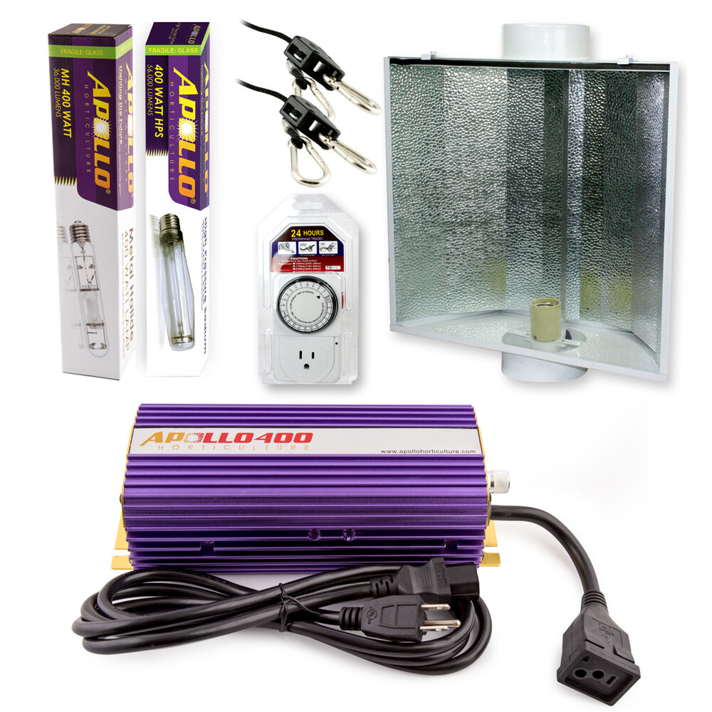Apollo Horticulture 400 Watt Mh Hps Grow Light System Set