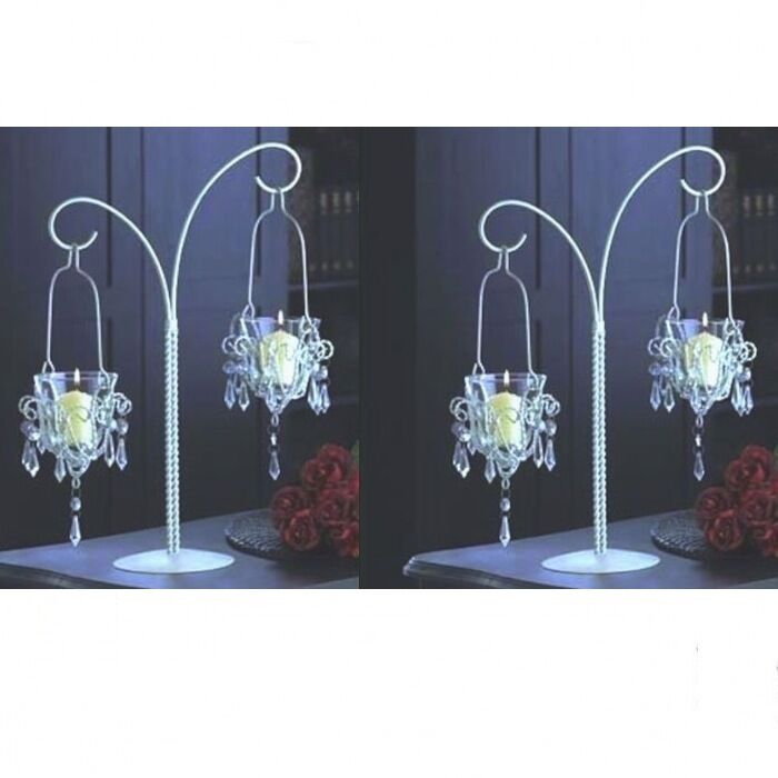 Large crystal candelabra candle holder chandelier