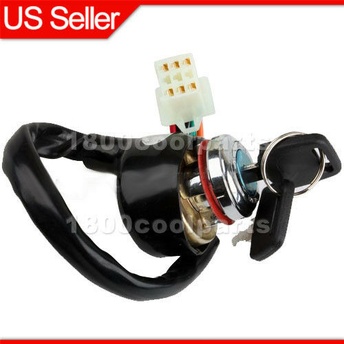 ignition switch key 6 wire 50cc 70 90 110 125cc atv kazuma. Black Bedroom Furniture Sets. Home Design Ideas