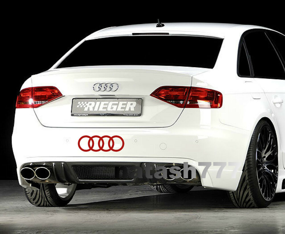 audi rings a4 a6 a8 rs3 rs4 q5 s line racing decal. Black Bedroom Furniture Sets. Home Design Ideas