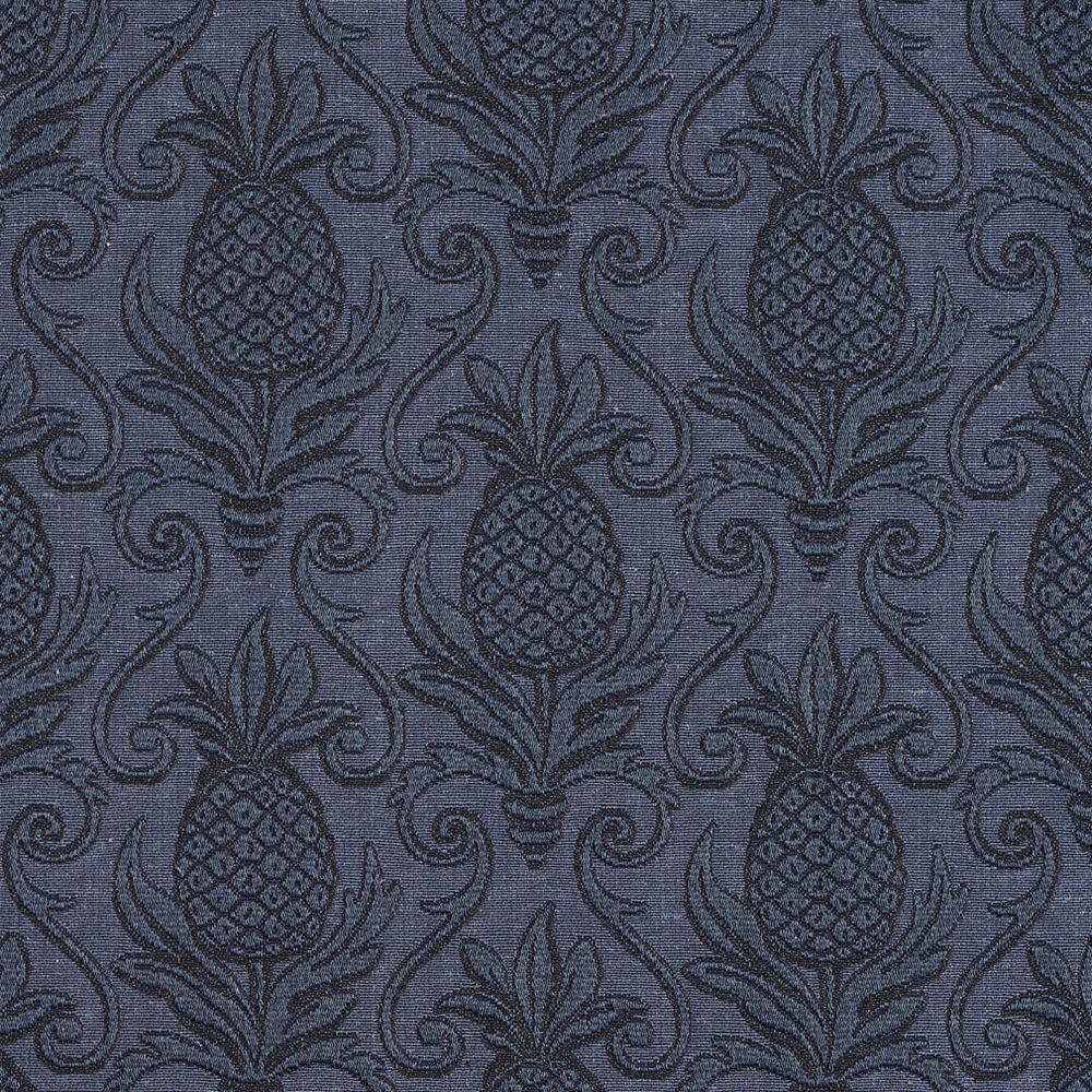 e521 blue pineapple durable jacquard upholstery grade fabric by the yard ebay. Black Bedroom Furniture Sets. Home Design Ideas