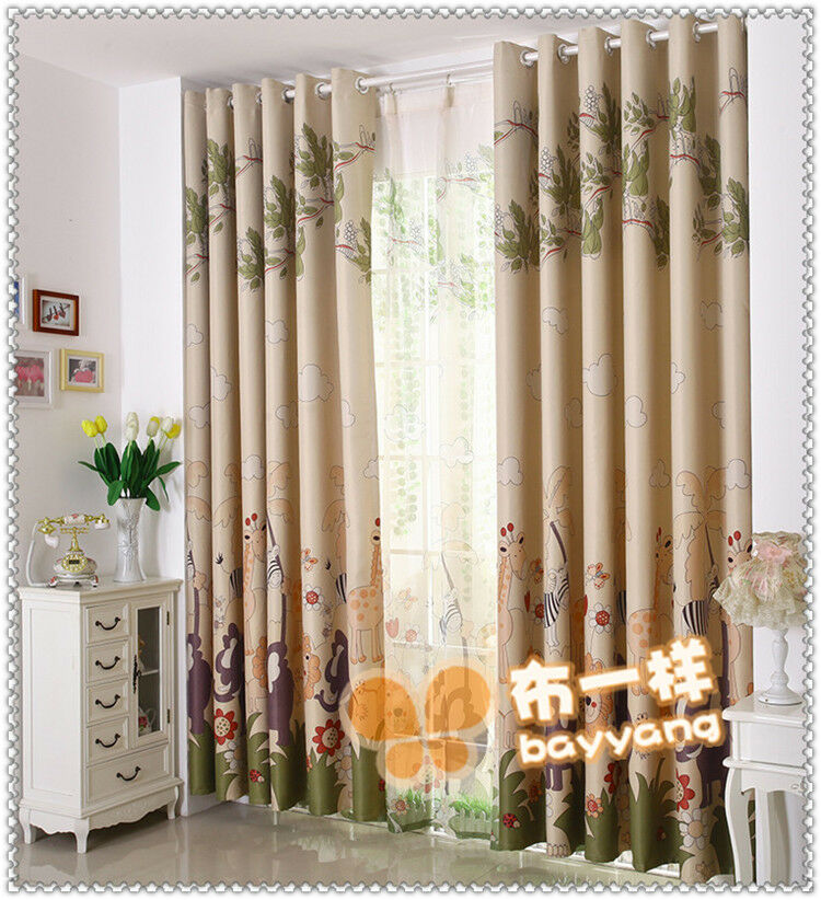 kids lovely animals united blockout curtain custom made