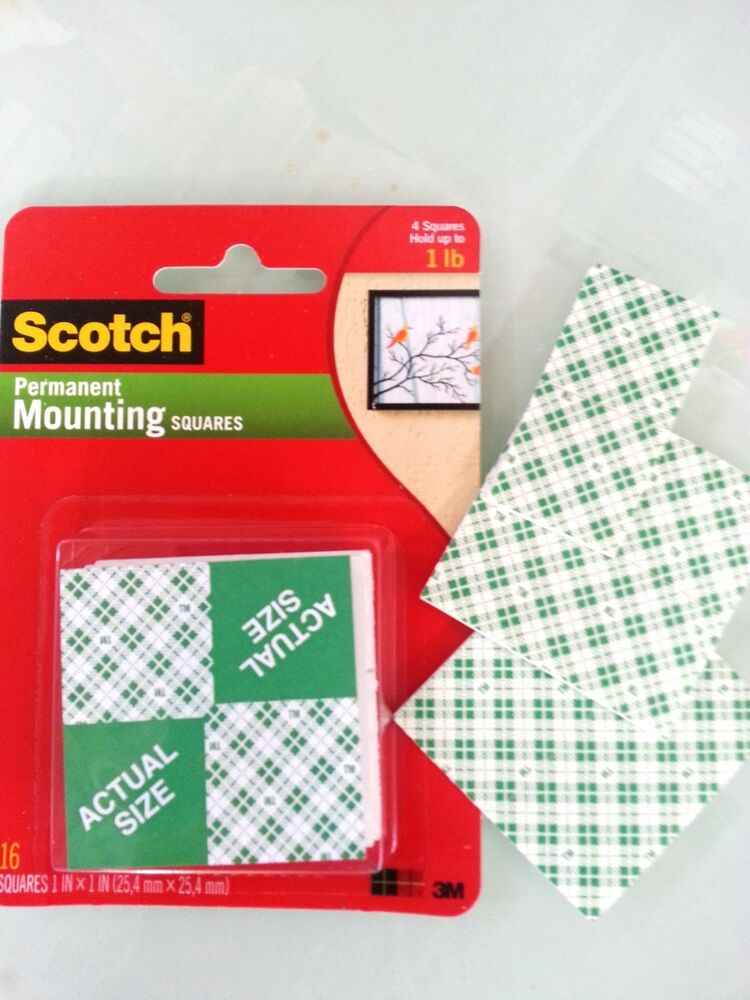 3m 111 Scotch Double Sided Foam Mounting Squares 1 Quot X 1