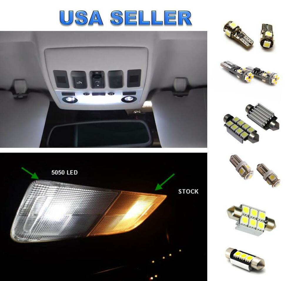 11x Led Lights Interior Package Kit For Audi A6 Rs6 C7