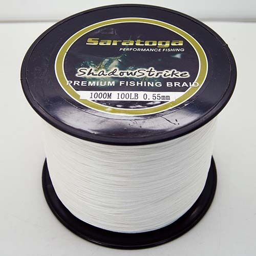 8strands1000m white super strong dyneema saratoga braided for Strong fishing line