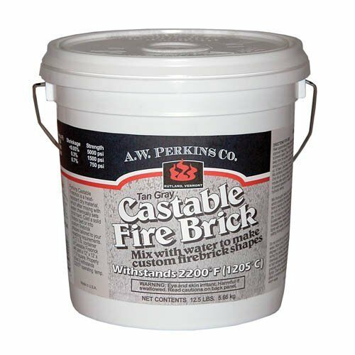 Concrete Mix In Clay : Aw perkins castable fire brick refractory cement