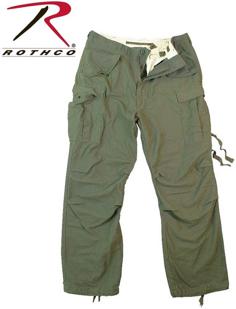 OD Green Field Pants Vintage M-65 Tactical Military Field ...