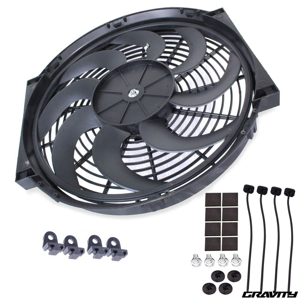 16 Quot Curved Blade Engine Radiator Intercooler Cooling