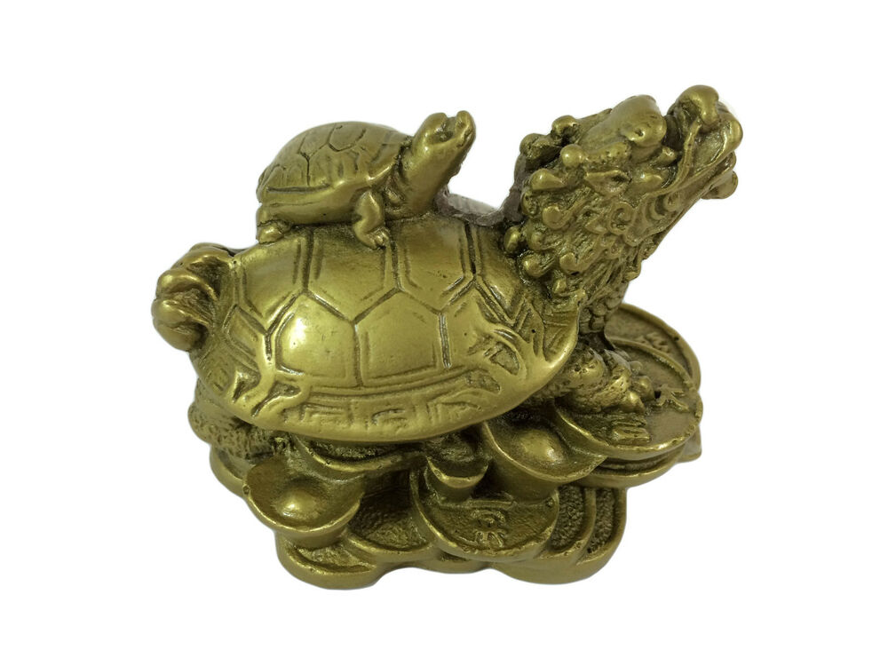 dragon turtle tortoise statue figurine coin money wealth gold resin feng shui ebay. Black Bedroom Furniture Sets. Home Design Ideas