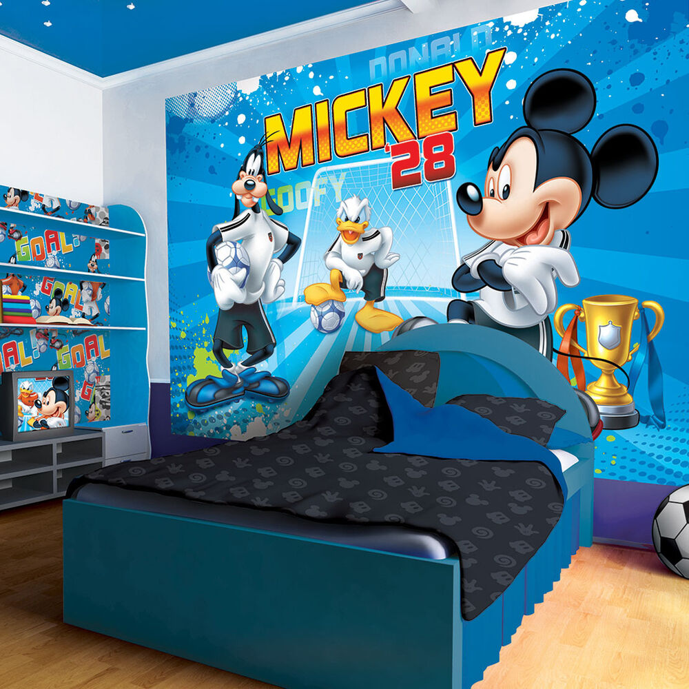 fototapete fototapeten tapete kinder poster disney mickey mouse team 952 p4 ebay. Black Bedroom Furniture Sets. Home Design Ideas