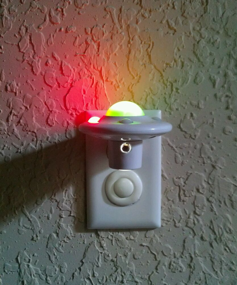 Children s Bedroom LED Night Light Plug-in Wall ,Space Theme AUTOMATIC ,No BULB. eBay
