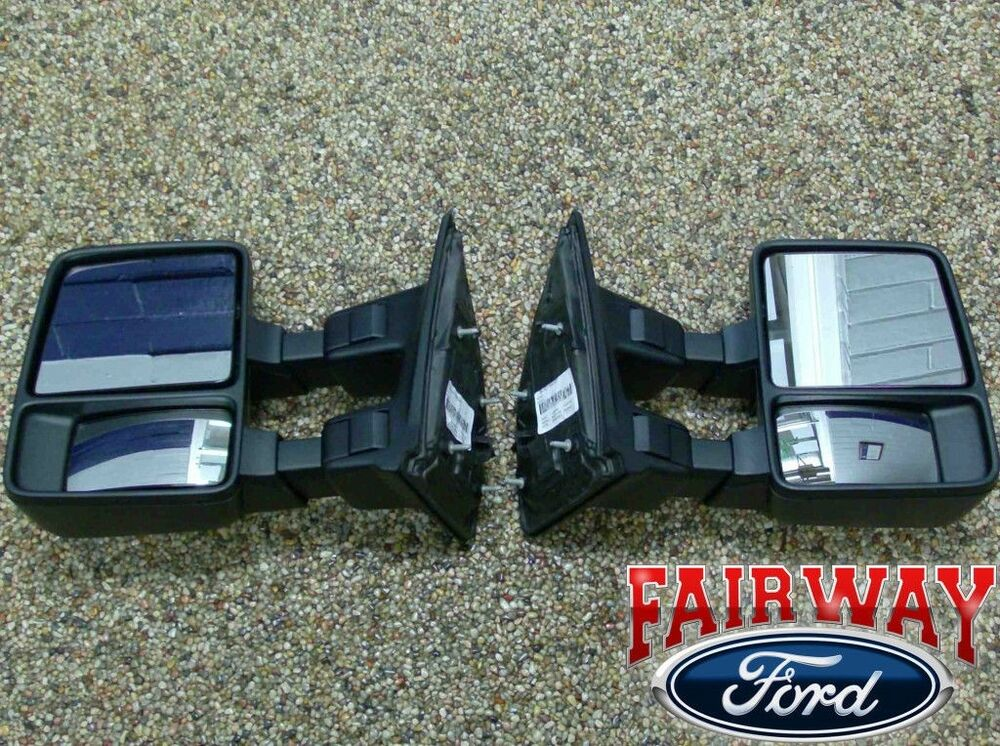 08 Thru 16 Super Duty F250 F350 Oem Ford Manual Trailer Tow Mirrors  Pair  New