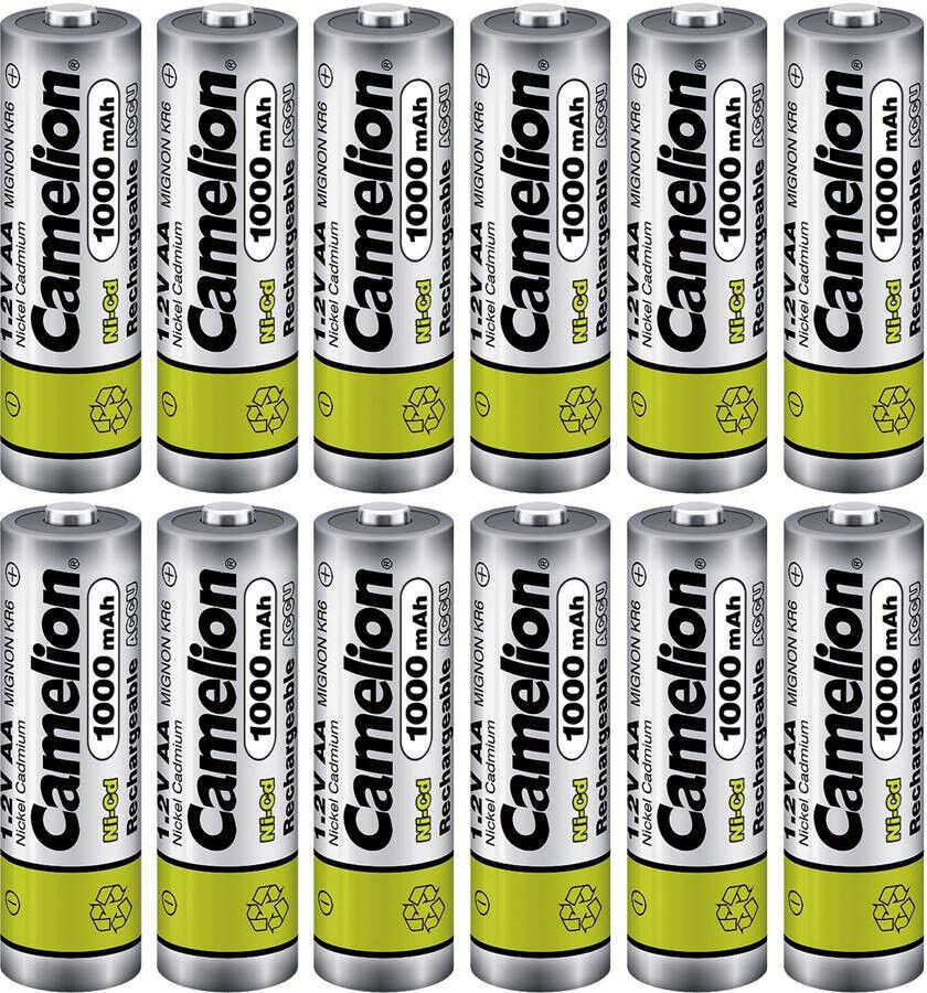 Camelion Aa Ni Cd 1000mah 1 2v Rechargeable Solar Light Lawn Lamp Batteries X 12 Ebay