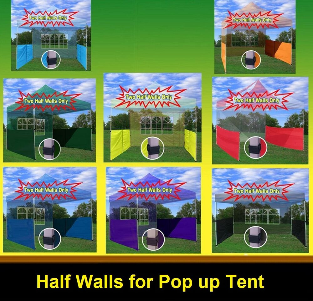 Two Half Walls For 10 X10 10 X15 10 X20 Pop Up Paty