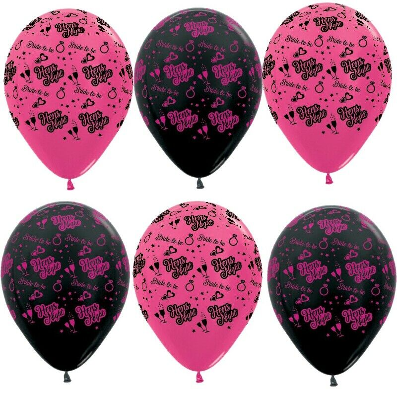 Hens Night Balloons X 6 Party Decorations Supplies Bride