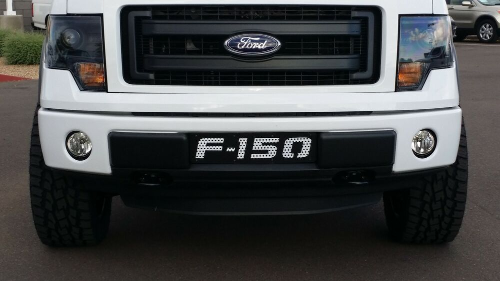 2009 2014 Ford F 150 F150 Black With White Mesh Lower