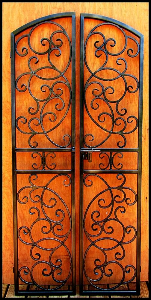 Wrought Iron Wine Cellar Double Door Gate Vineyard Winery