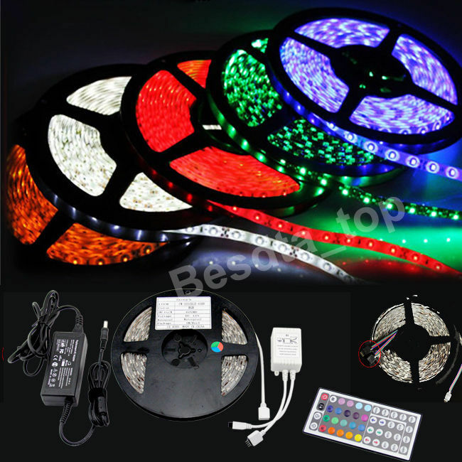 20m 15m 10m 5m led rgb color change strip light kit flexible dimmable waterproof ebay. Black Bedroom Furniture Sets. Home Design Ideas