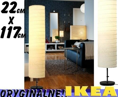 Ikea Folding Table With Chair Storage ~ IKEA HOLMO Floor Lamp White Round Paper Shade 46 Inch Standing Floor