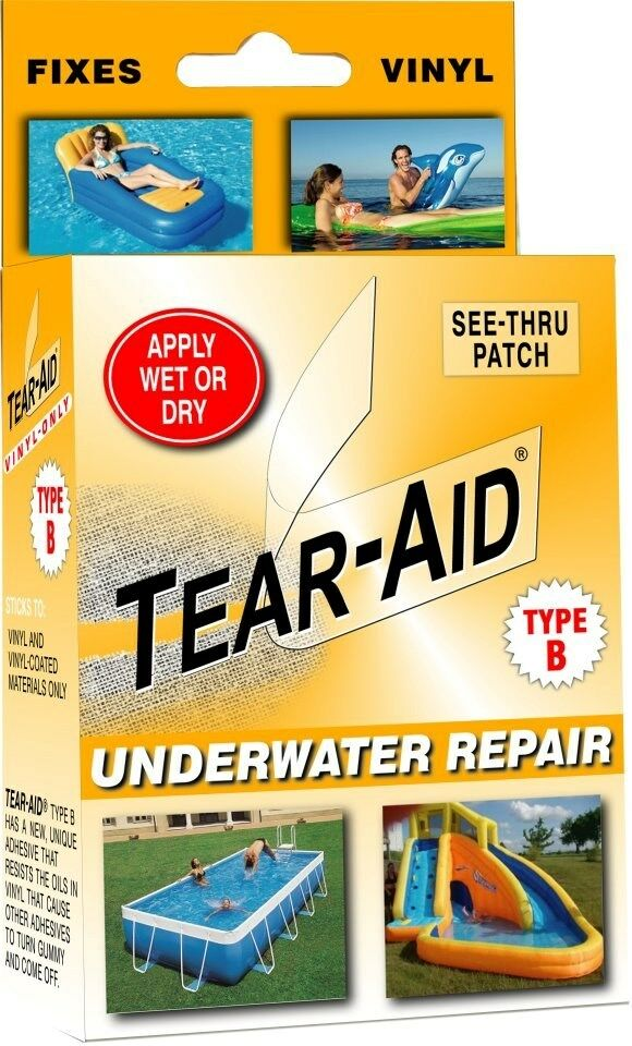 Pool Liners Repair Orange Kit Tear Aid Type B Works
