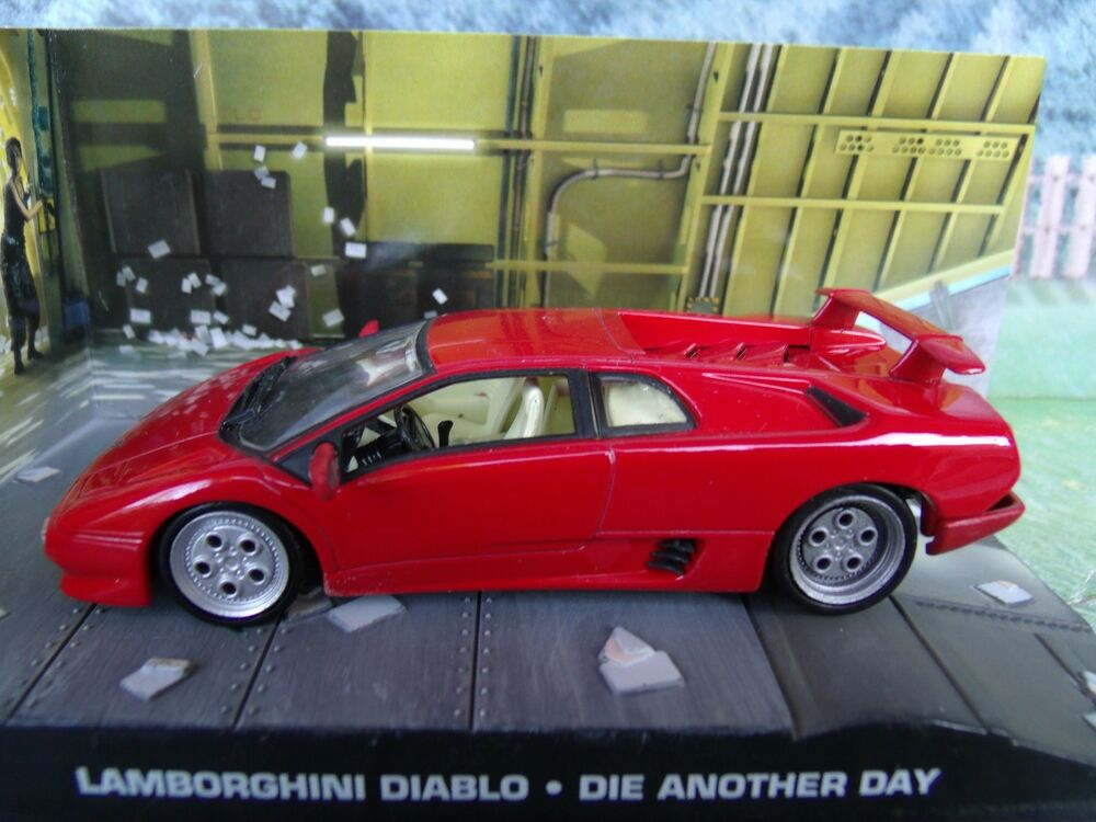 1 43 lamborghini diablo james bond die another day 007 series diorama ebay. Black Bedroom Furniture Sets. Home Design Ideas