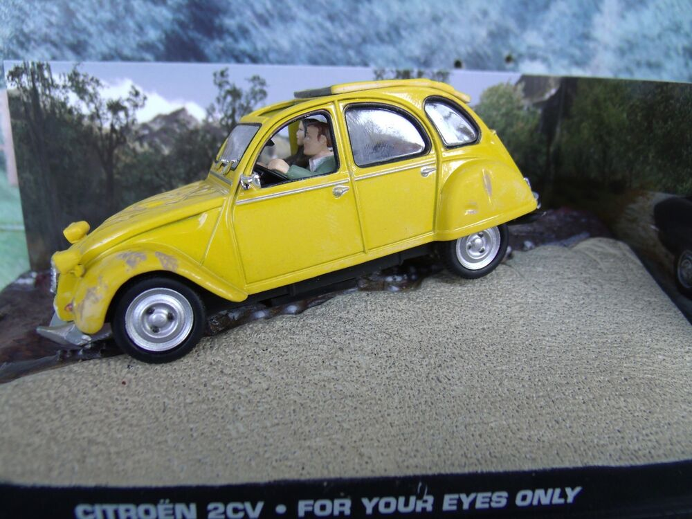 1 43 citroen 2cv james bond for your eyes only 007 series diorama ebay. Black Bedroom Furniture Sets. Home Design Ideas