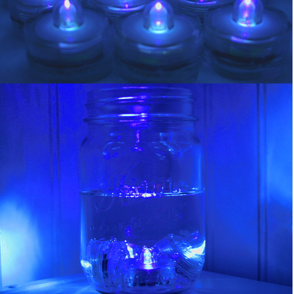 led lights decorations wedding 96 blue led submersible waterproof wedding floral 5444