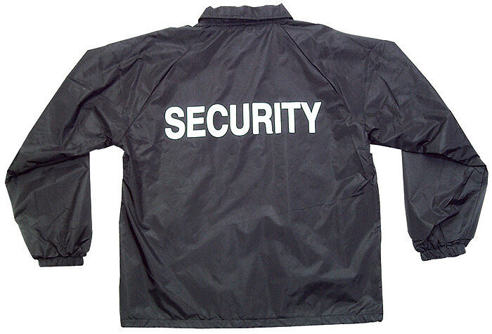 windbreaker security guard jacket with security silk ...