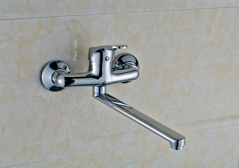New Wall Mounted Kitchen Faucet Single Handle Faucet