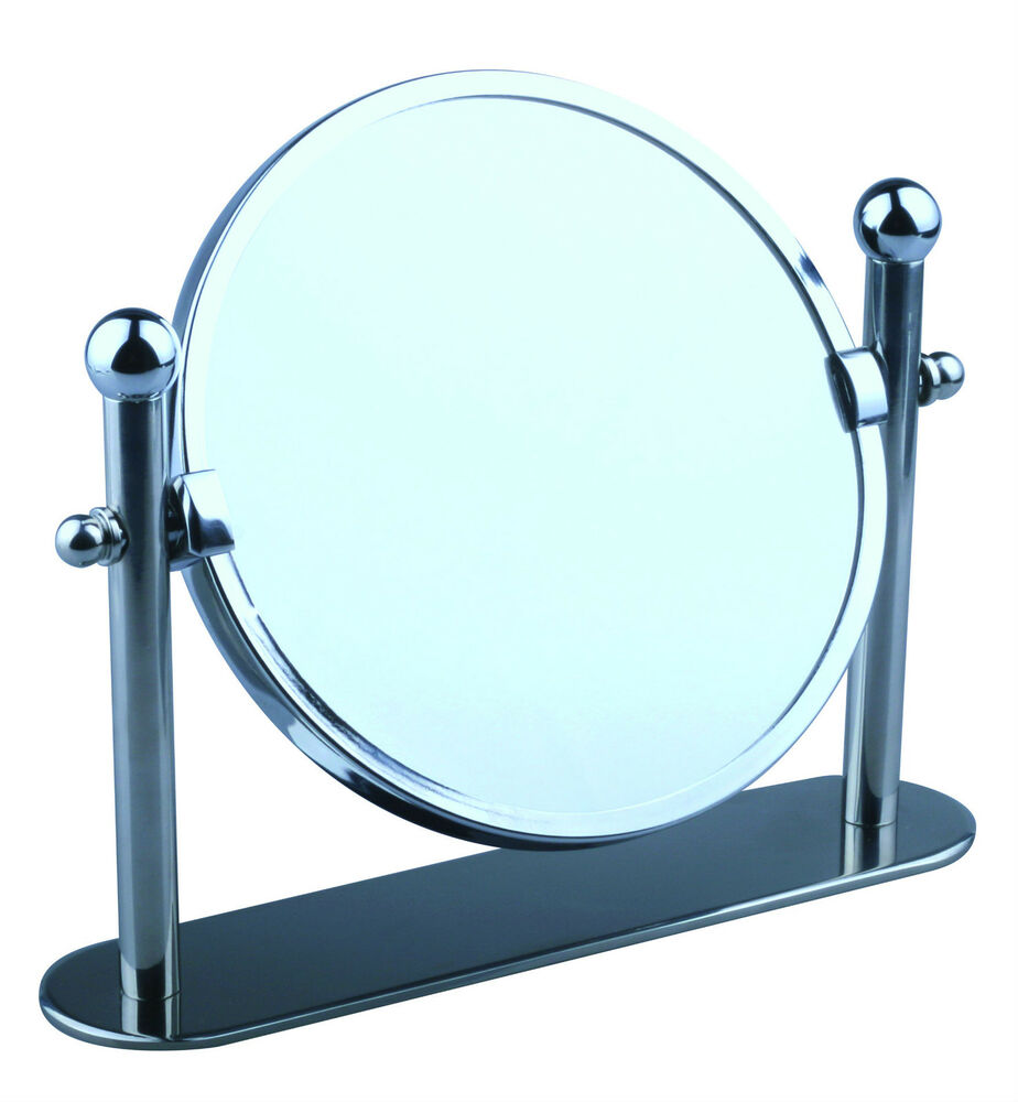 bathroom free standing mirrors swivel chrome magnifying free standing pedestal cosmetic 15968