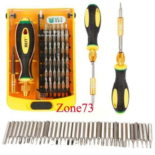 38 in 1 tool repair screwdriver set bit kit cell phone mobile computer laptop ebay. Black Bedroom Furniture Sets. Home Design Ideas