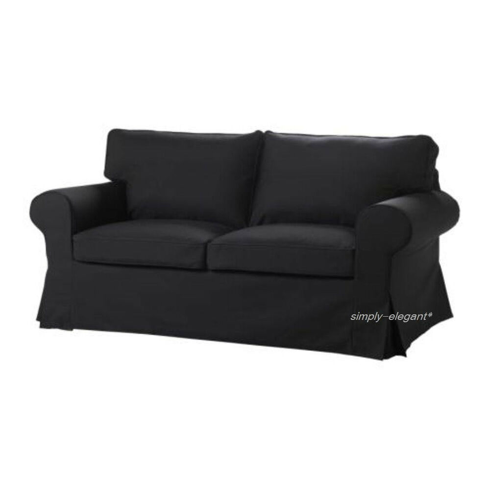 Ikea cover for ektorp loveseat 2 seat sofa slipcover idemo black new sealed ebay Cover for loveseat