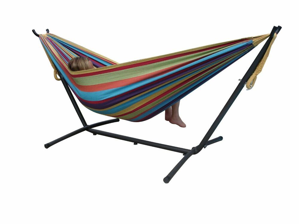 Portable Hammock With Space Saving Steel Stand Ebay