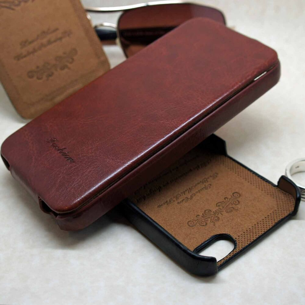 Designer embossed vintage high quality pu leather flip case for iphone 4 4s 5 5s ebay - Iphone 5s leather case ...