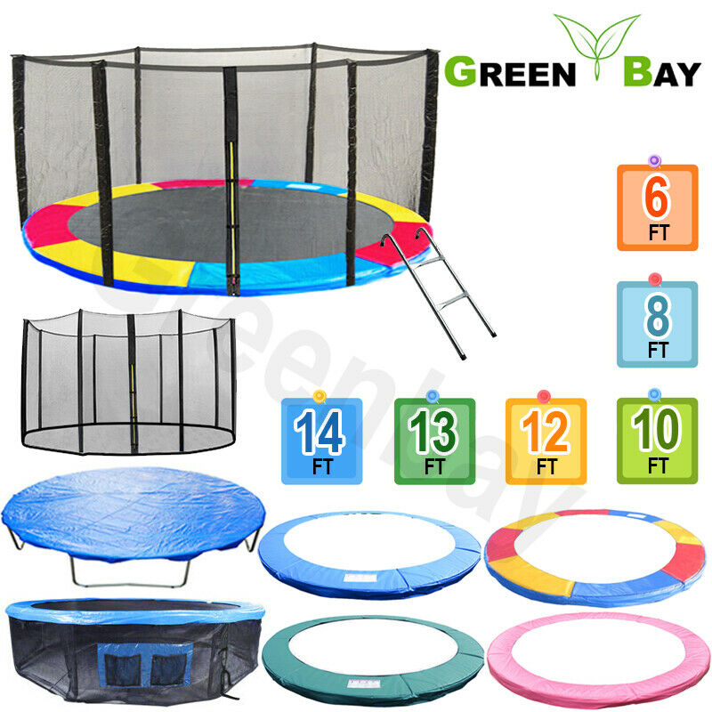 10 12 14 15 Trampoline Replacement Pad Pading Safety Net: TRAMPOLINE REPLACEMENT PAD SAFETY NET RAIN COVER LADDER