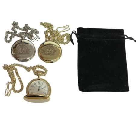 img-ROYAL NAVY CAP BADGE CREST ENGRAVED POCKET WATCH , COMES WITH VELVET POUCH