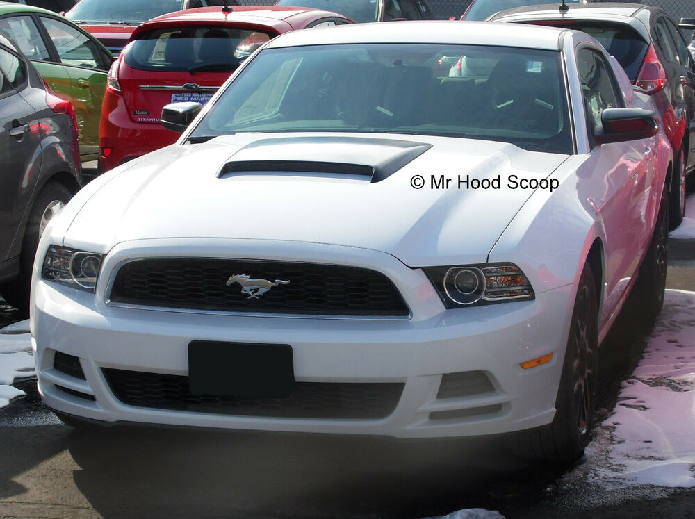 ford mustang gt v6 hood scoop kit factory look by. Black Bedroom Furniture Sets. Home Design Ideas