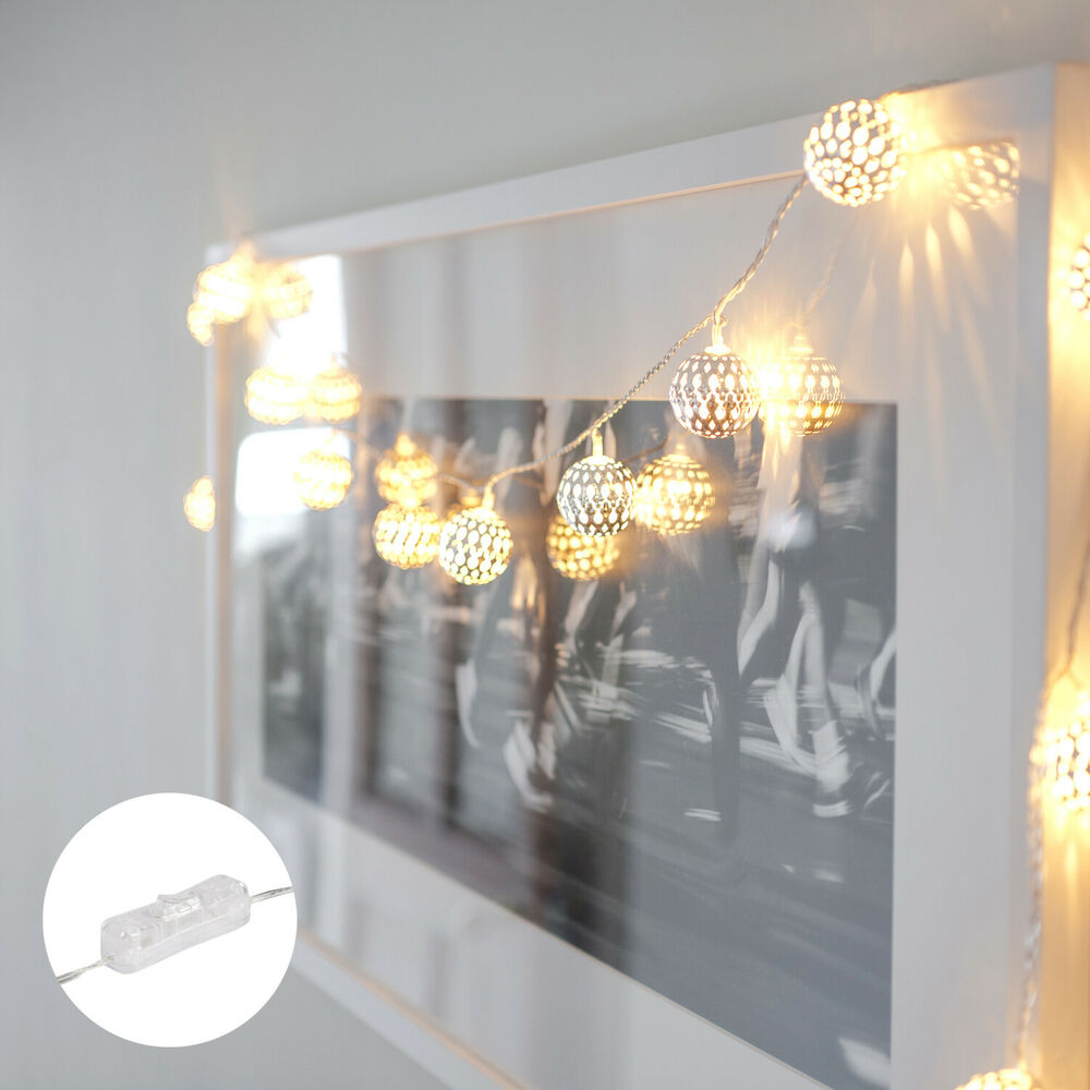 16 Gold Or Silver Tangier Moroccan Orb Indoor LED Bedroom