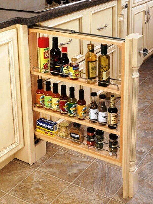 kitchen cabinet pull out spice rack rev a shelf lower cabinet filler pullout organizer spice 19352