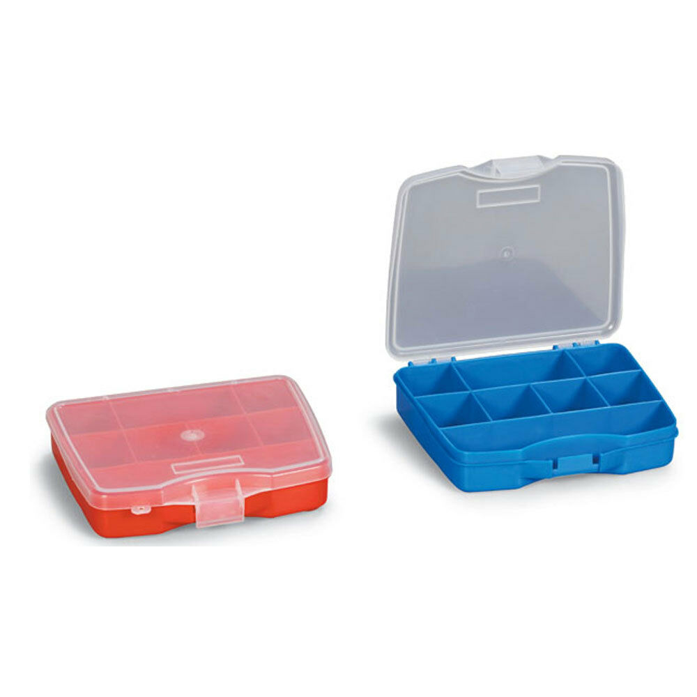 2x plastic storage box compartment organisers fishing for Fishing tackle storage
