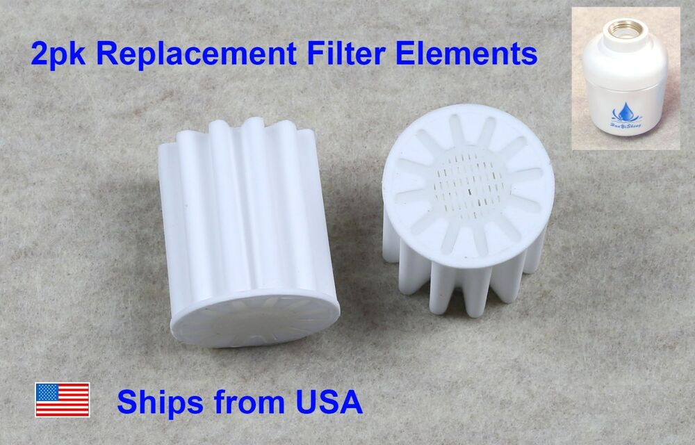 2pk replacement filter core for bathroom in line shower head water softener ebay. Black Bedroom Furniture Sets. Home Design Ideas