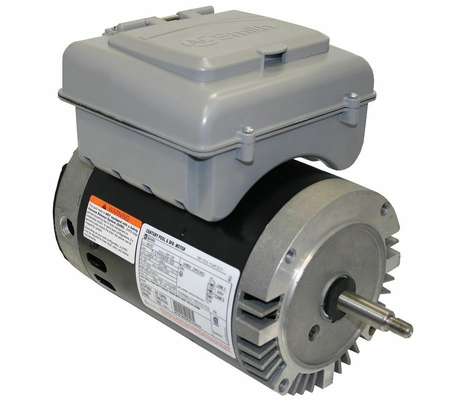 1 Hp 2 Speed 56j Frame 230v Pool Motor With Timer Century