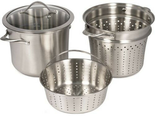 Calphalon Contemporary Stainless Steel Multi Pot New Ebay