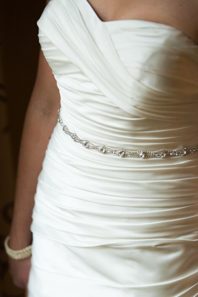 bridal dress wedding rhinestone belt sash with